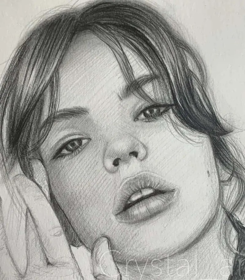 100+ Stunning Realistic Portrait Drawings 21