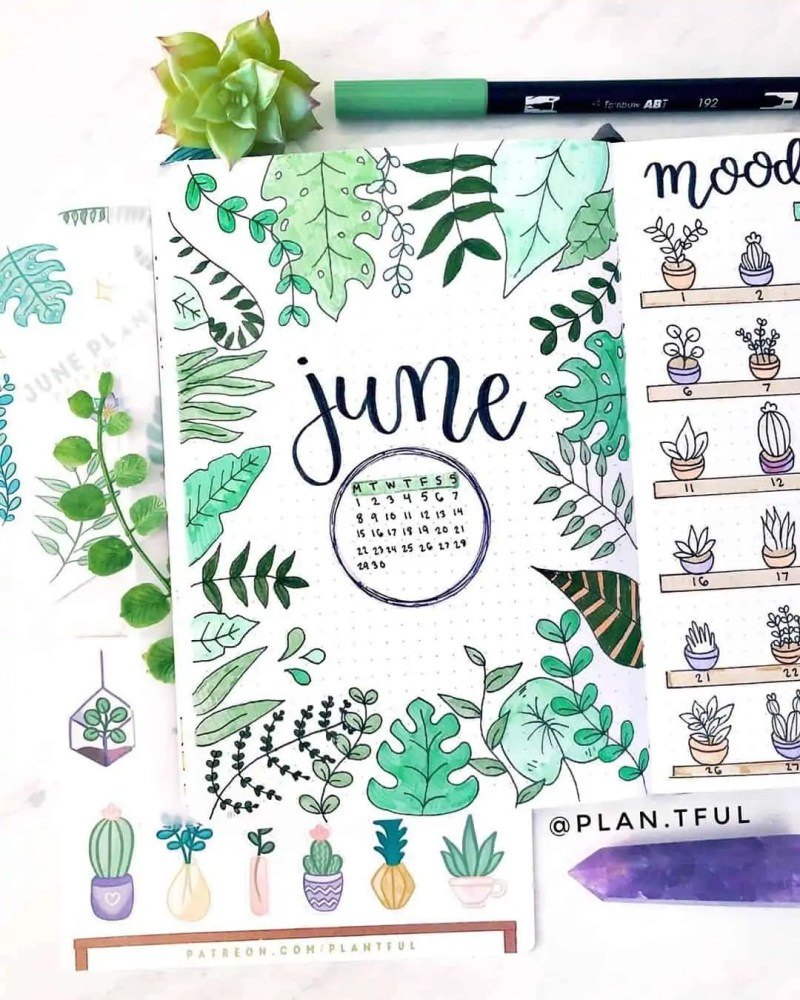 100+ Bullet Journal Ideas that you have to see and copy today! 464