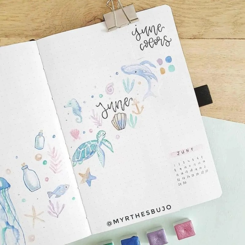 100+ Bullet Journal Ideas that you have to see and copy today! 472