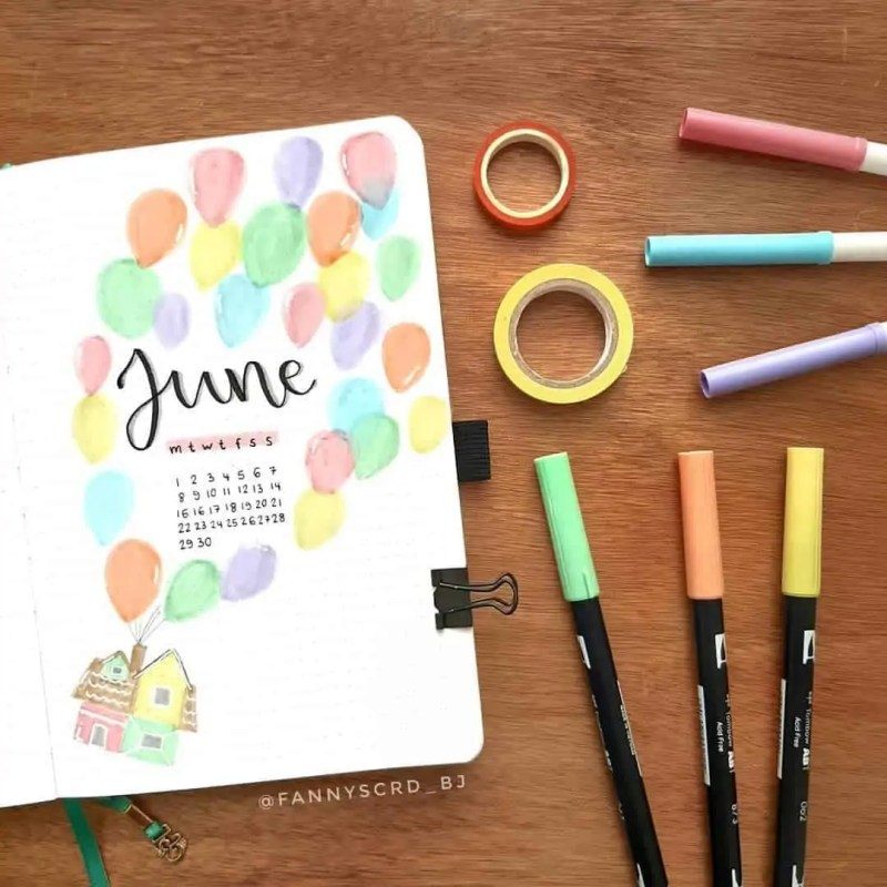 100+ Bullet Journal Ideas that you have to see and copy today! 486