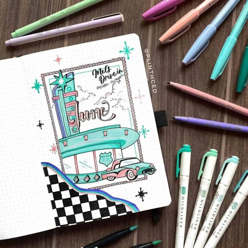 100+ Bullet Journal Ideas that you have to see and copy today! 498