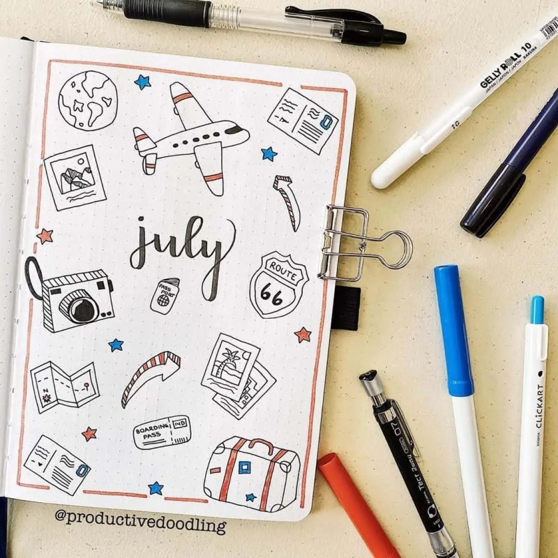 100+ Bullet Journal Ideas that you have to see and copy today! 568