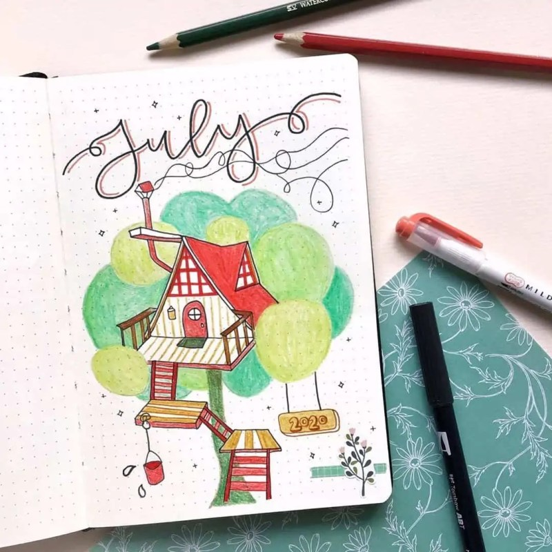 100+ Bullet Journal Ideas that you have to see and copy today! 564