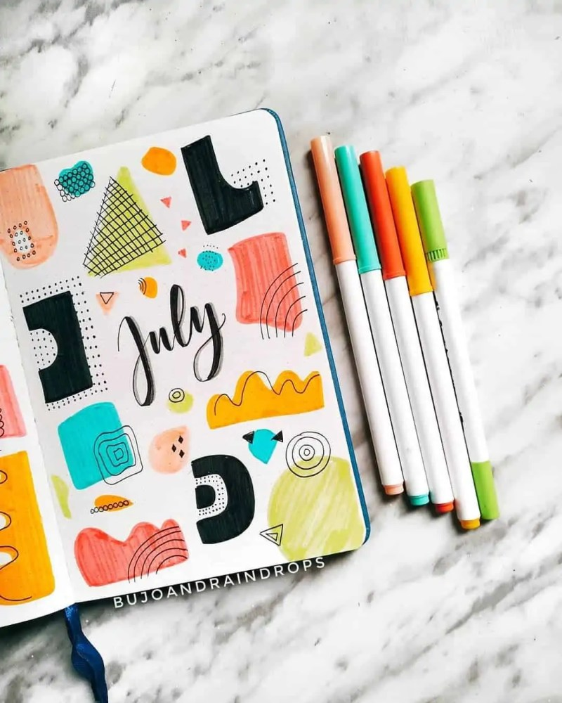 100+ Bullet Journal Ideas that you have to see and copy today! 556