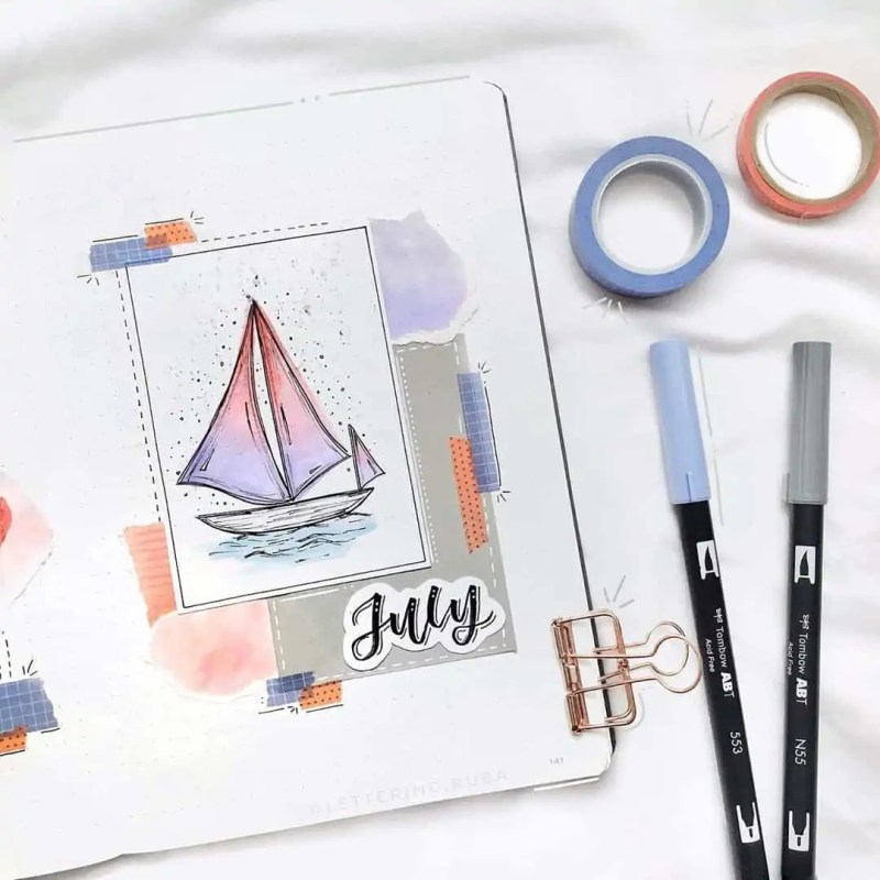100+ Bullet Journal Ideas that you have to see and copy today! 552
