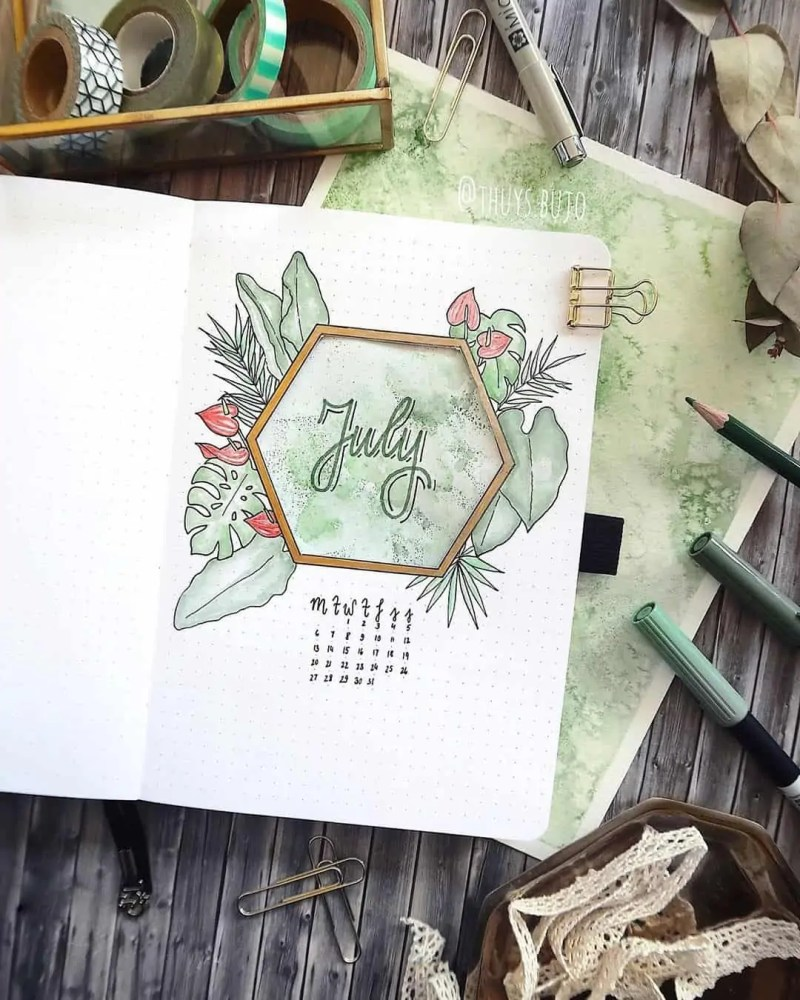 100+ Bullet Journal Ideas that you have to see and copy today! 538