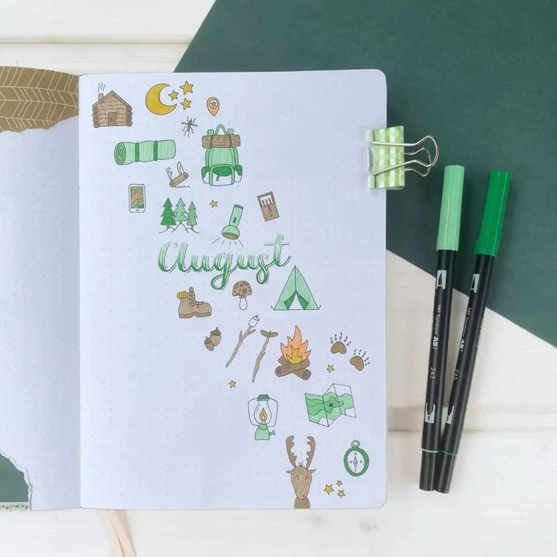 100+ Bullet Journal Ideas that you have to see and copy today! 598