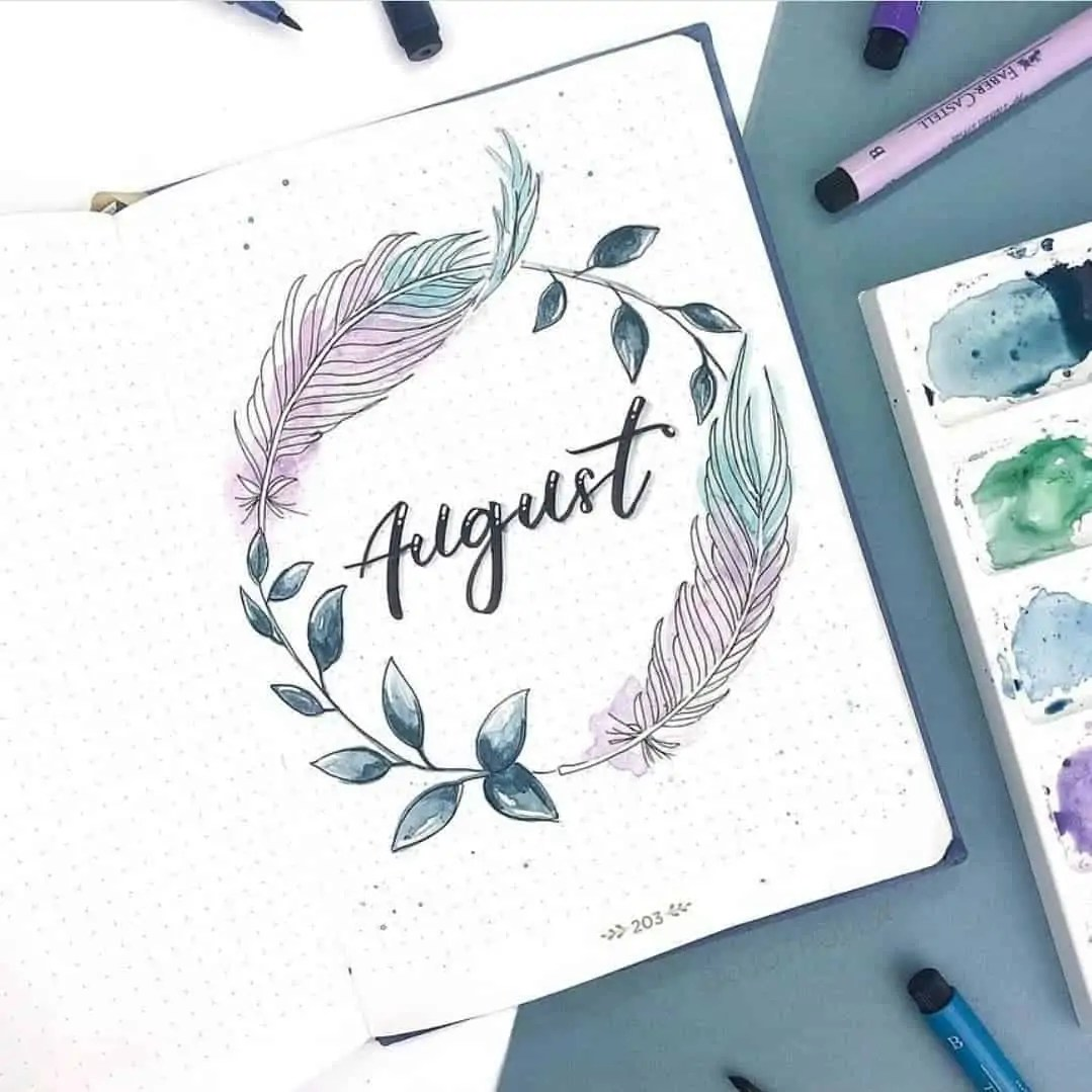 100+ Bullet Journal Ideas that you have to see and copy today! 312