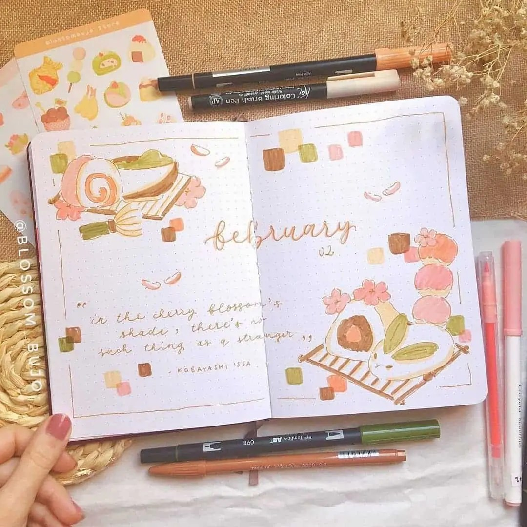 100+ Bullet Journal Ideas that you have to see and copy today! 55