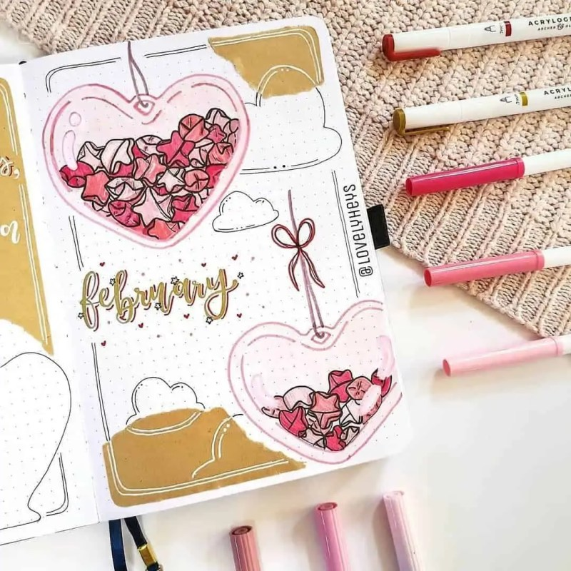 100+ Bullet Journal Ideas that you have to see and copy today! 309