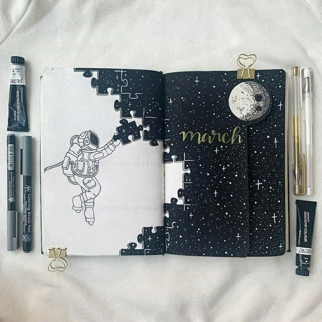 100+ Bullet Journal Ideas that you have to see and copy today! 74