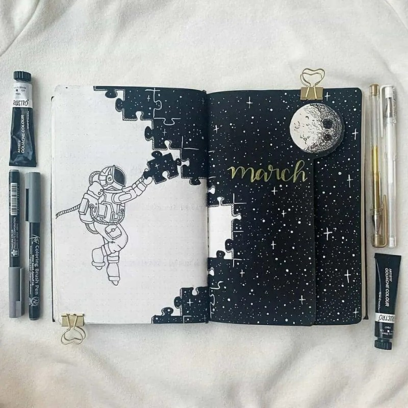 100+ Bullet Journal Ideas that you have to see and copy today! 334