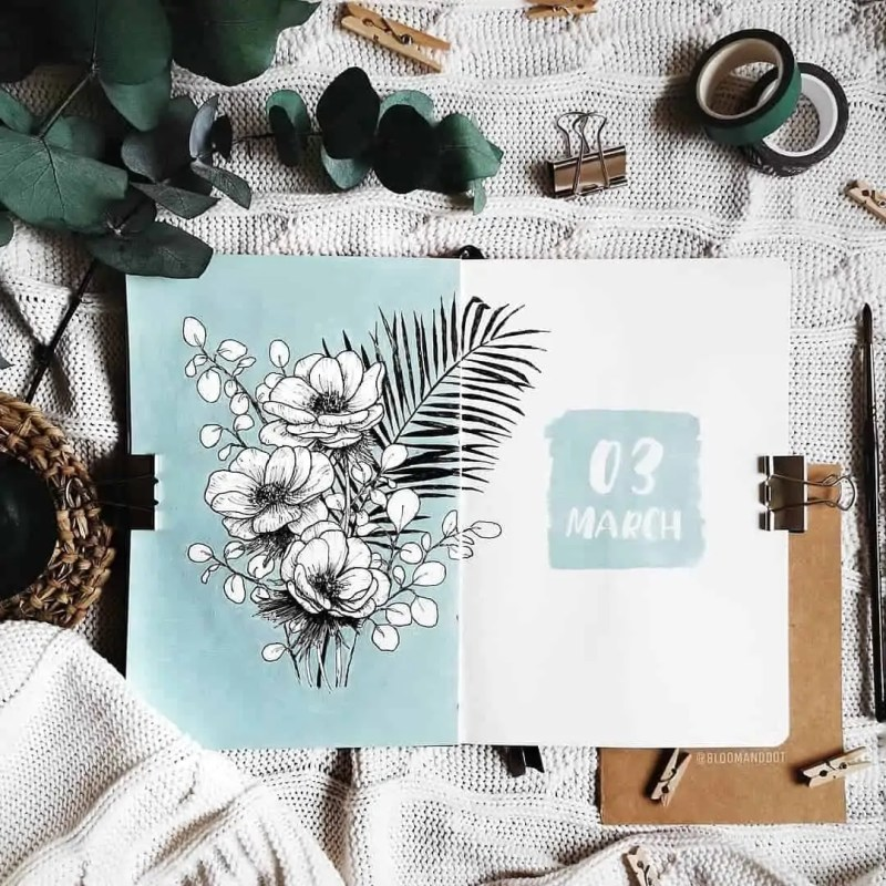 100+ Bullet Journal Ideas that you have to see and copy today! 324