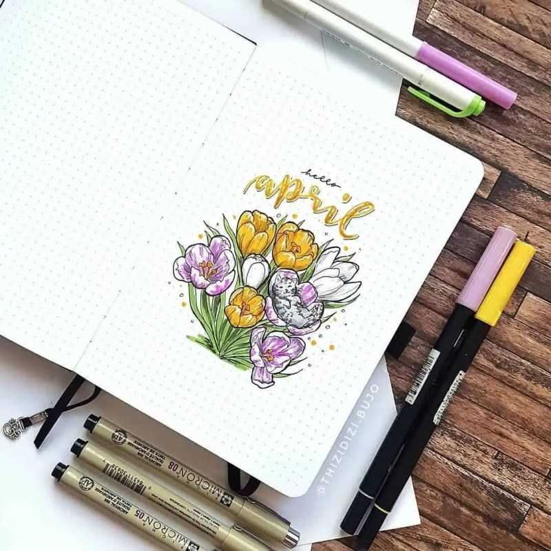 100+ Bullet Journal Ideas that you have to see and copy today! 396