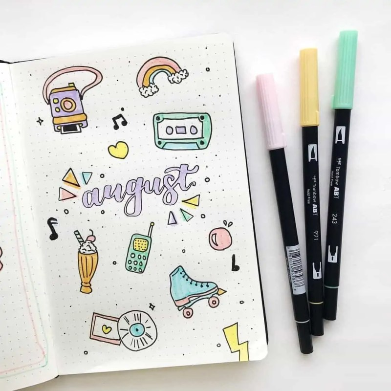 100+ Bullet Journal Ideas that you have to see and copy today! 646