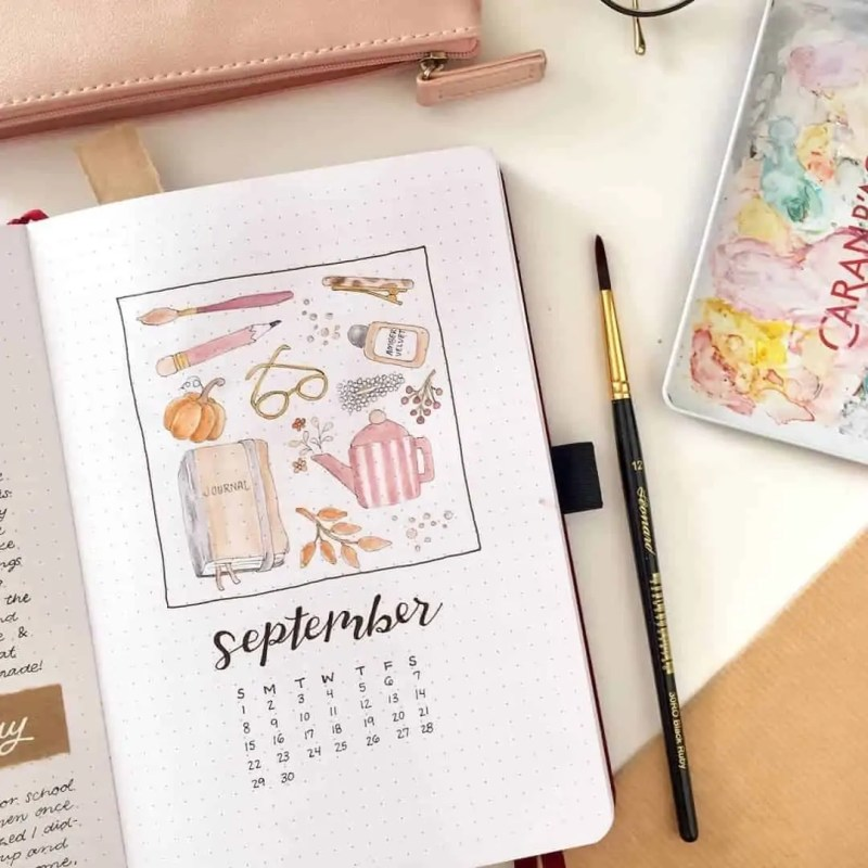 100+ Bullet Journal Ideas that you have to see and copy today! 664