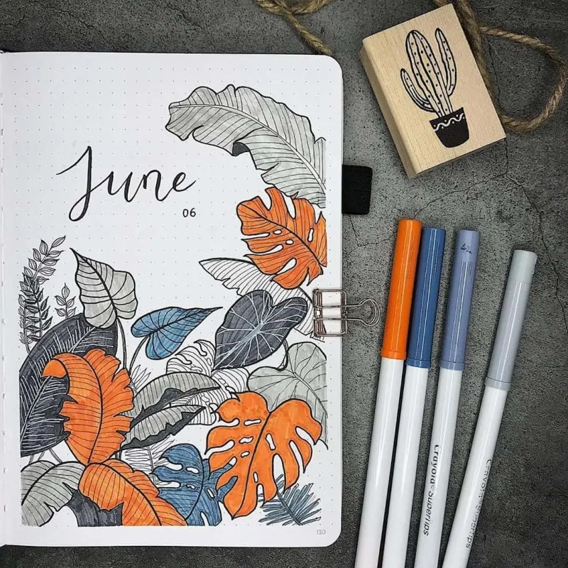 100+ Bullet Journal Ideas that you have to see and copy today! 458