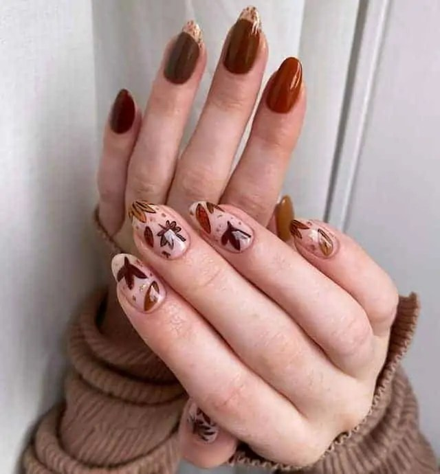 Fall Nails Ideas that you have to see 93