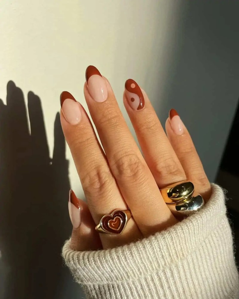 Fall Nails Ideas that you have to see 107