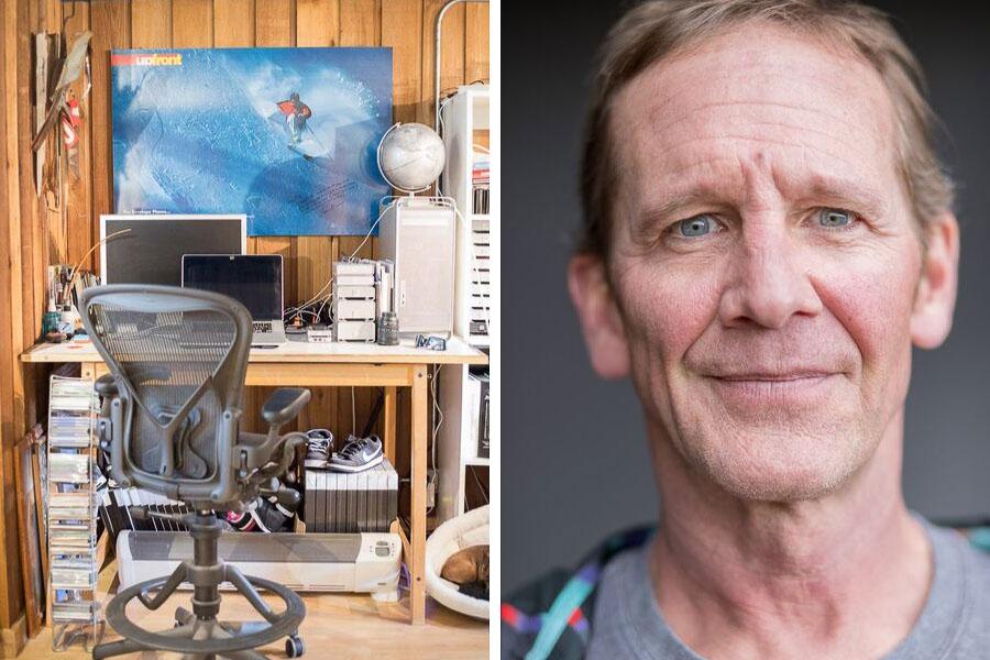 Photographer Flip McCririck + his office in Colorado