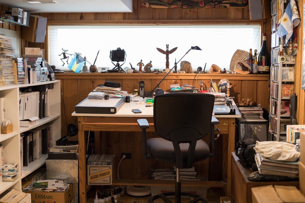 Photographer Flip McCririck's office in Colorado