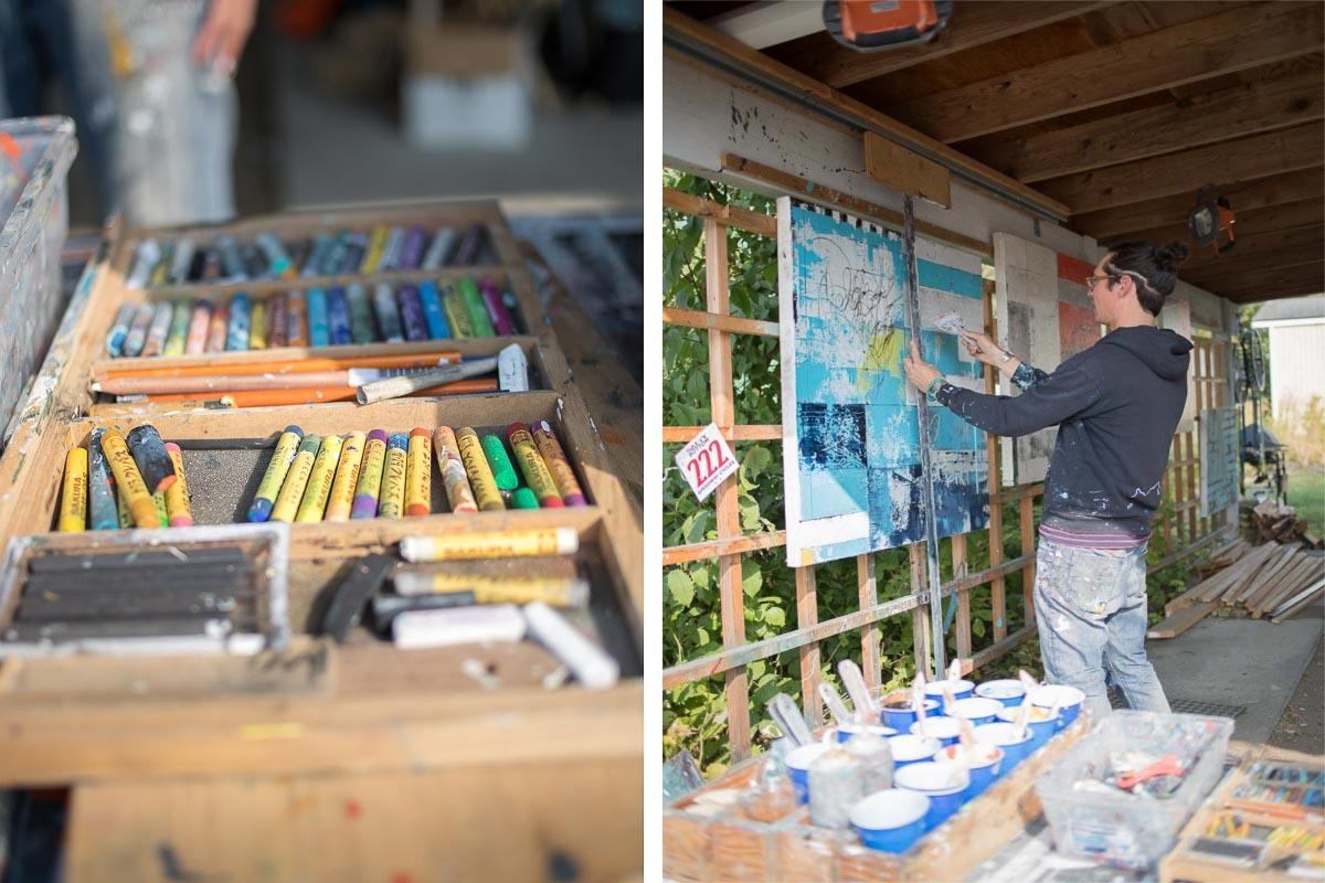 Artist James Temte at his home studio in Anchorage, Alaska