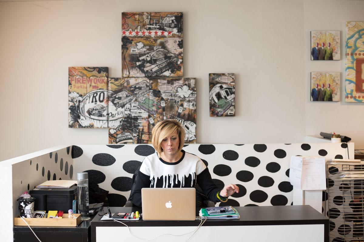 Lindsey Lamb of Lindz + Lamb / LKMNDD Print Shop / Office, Denver, Colorado