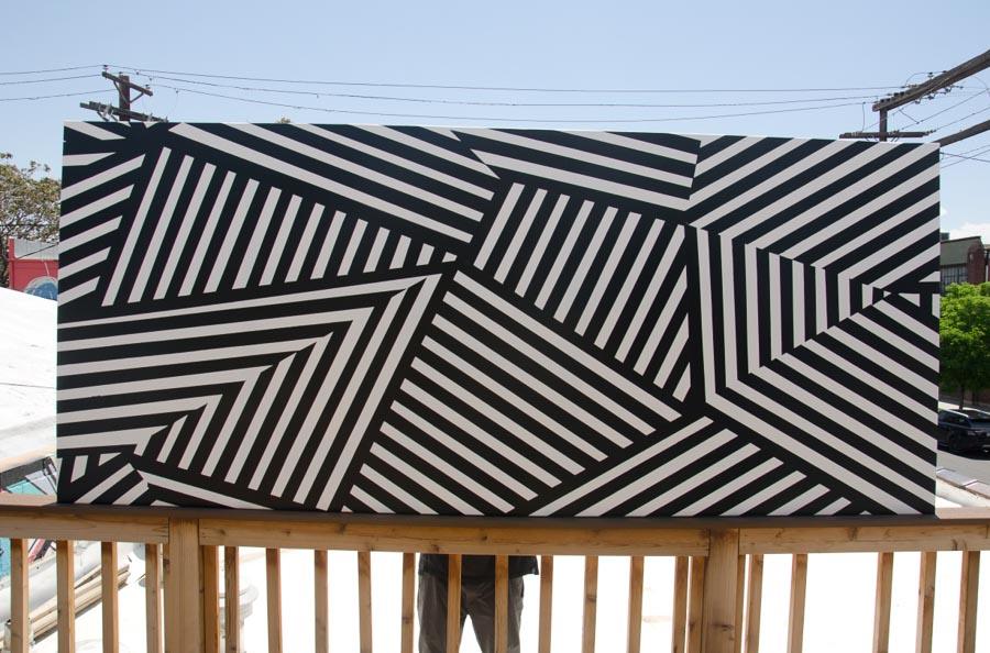 "RD 5. Original painting on canvas, 44"" x 108"". –Lindz & Lamb"