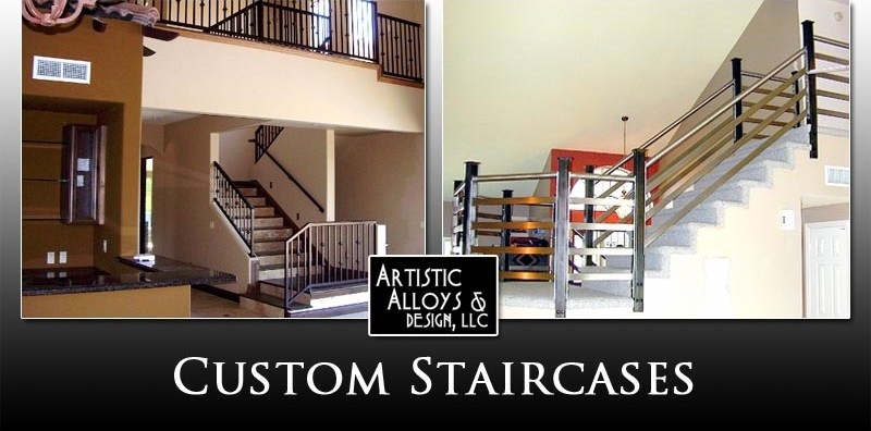 Custom Staircases Artistic Alloys Design Llc 480 941 2611 | Metal Staircases For Homes | Beam | Stainless Steel | Support | Statement | Metallic