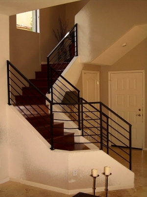 Metal Stair Railings Arizona Wrought Iron Stainless Steel Copper | Black Metal Handrail For Stairs | Rod Iron | Metal Railing | Iron Pipe | Natural Wood | Artistic