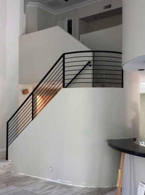 Metal Stair Railings Arizona Wrought Iron Stainless Steel Copper   Modern Metal Stair Railing   Interesting   Horizontal Slat   Curved Metal   Low Cost   Before And After