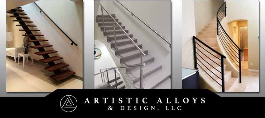 Metal Stair Railings Arizona Wrought Iron Stainless Steel Copper | Outside Metal Stair Railing | Steel | Concrete | Steel Handrail | Porch | Outdoor Stair