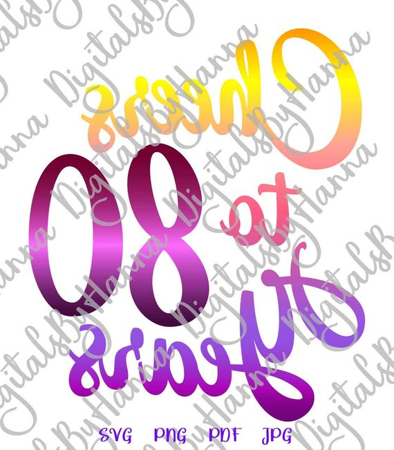 Download 80th Birthday SVG Files for Cricut Saying Cheers to 80 ...