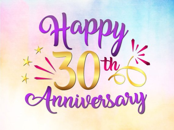 Download Happy 30th Anniversary SVG Pearl Wedding Thirties Thirty ...