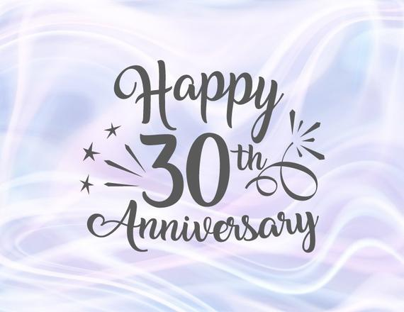 Download Happy 30th Anniversary SVG Pearl Wedding Thirty Gift ...