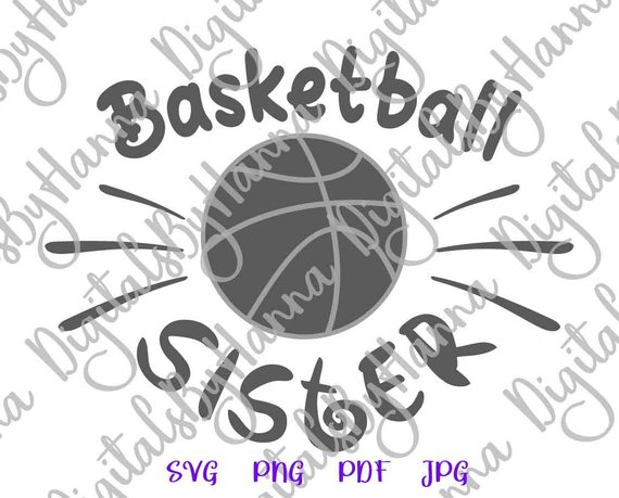 Basketball Sister SVG Loud Proud Sport Player Family Ball