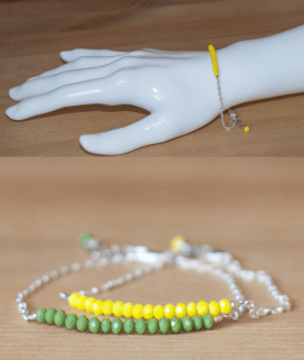 Yellow bead bracelet