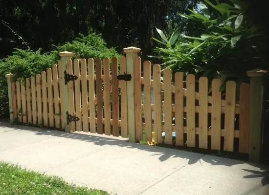 Custom wood gate