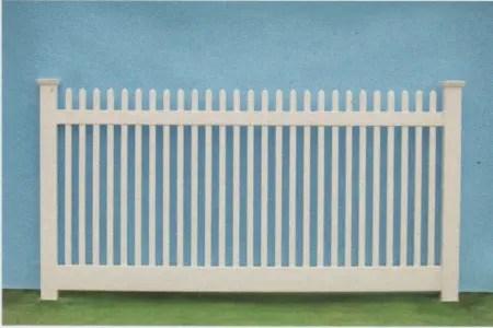 Nantucket Straight pvc picket fence