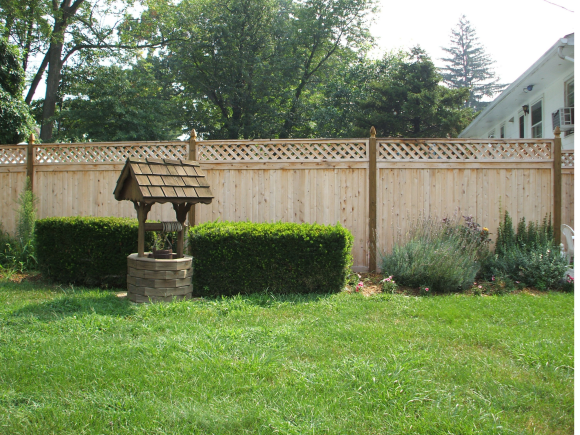 #227 with #02 Posts Wood Fence installed by Artistic Fence