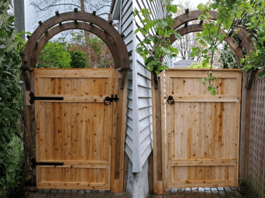 Solid Wood gate and arbor