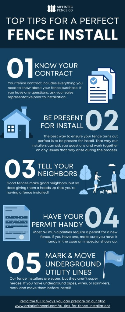 top tips for fence installation infographic