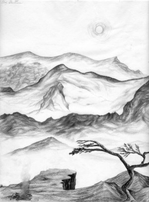 landscape drawing easy beginners