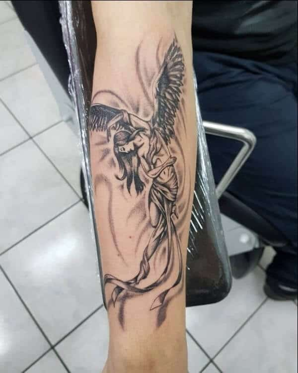Guardian Angel Tattoos : guardian, angel, tattoos, Beautiful, Guardian, Angel, Tattoo, Designs, Inked
