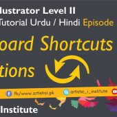 Adobe Illustrator Episode 30 – Keyboard Shortcuts & Action – Urdu/Hindi