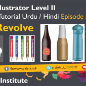 Adobe Illustrator Episode 34 – 3D Revolve – Urdu/Hindi
