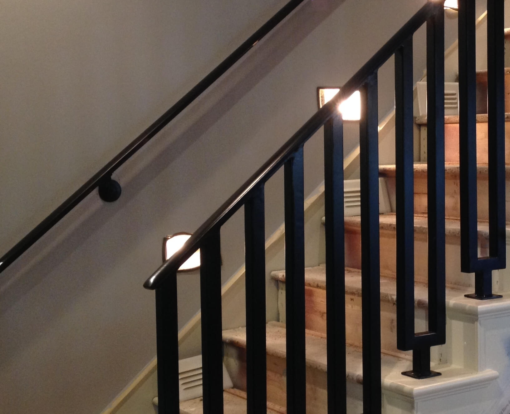 Iron Railings Fences Gates Custom Designed For Your Home | Iron Handrails For Stairs Interior | Wall Mounted | Balcony | Dark Brown | Room Divider | Custom