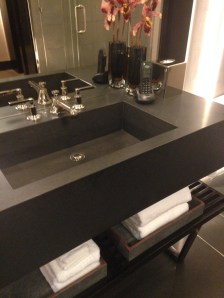 Custom Black absolute granite sink