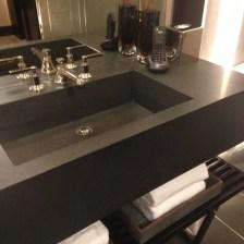 Custom Black absolute granite sink