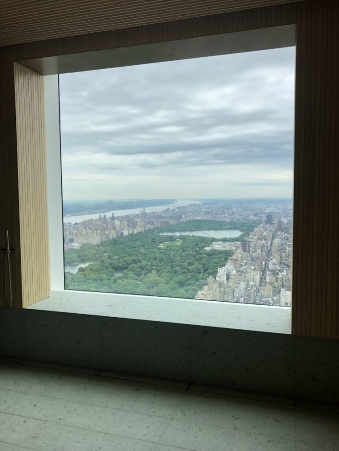 432 Park Ave his bathroom window view of NYC